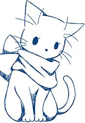 Dibujo de gato a lápiz