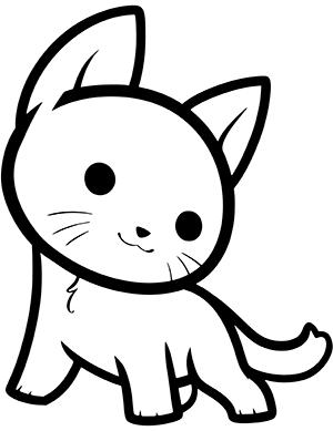 dibujo de gato fácil