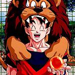 Goku y leon dbz