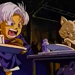 Trunks y gato dbz